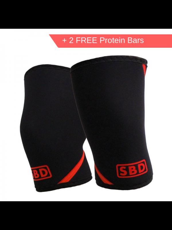 SBD - Knee Sleeve (Pair) + 2 Free Protein Bars