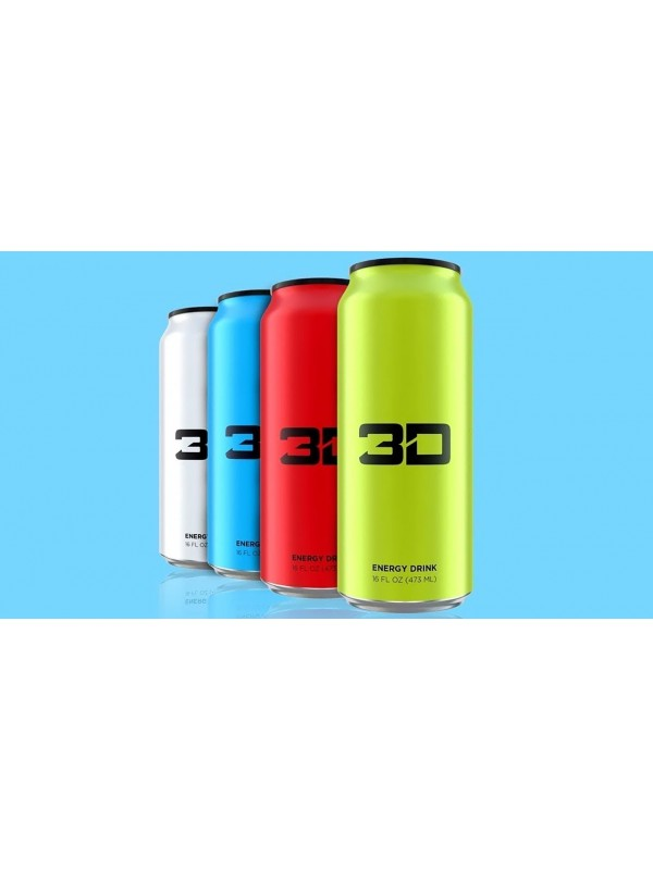 3D Energy Drink x 12 Cans