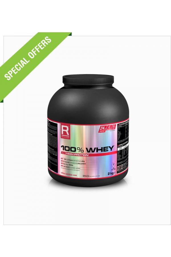 Reflex - 100% Whey Protein - 2kg + Free T-SHIRT