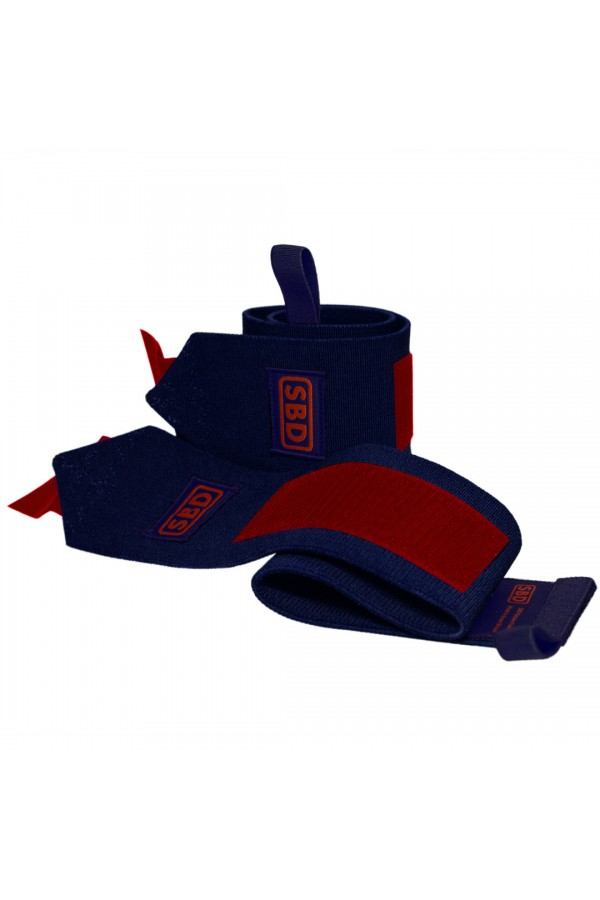 SBD Stiff Wrist Wraps (Limited Edition Navy/red)