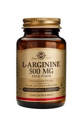 Solgar - L-Arginine 500 mg - 50 Veg Caps