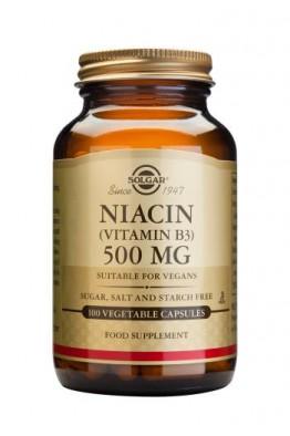 Solgar - Niacin 500 mg (Vitamin B3) - 100 Veg Caps