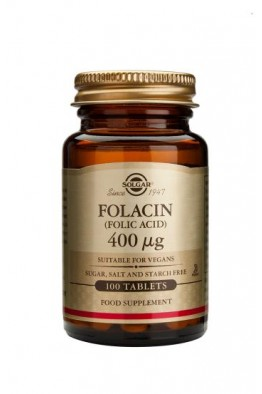 Solgar - Folacin 400 µg (Folic Acid) - 100 Tablets
