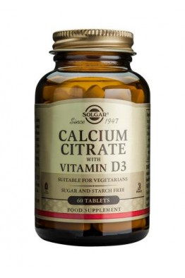 Solgar - Calcium Citrate with Vitamin D3 - 60 Tablets