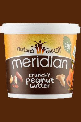 Meridian - Crunchy Peanut Butter - 1kg (BBE Dec18)