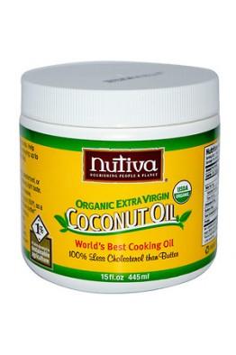 Nutiva - Organic Extra Virgin - Coconut Oil - (445ml)