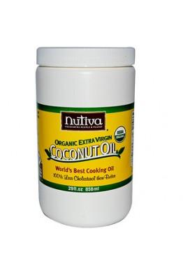 Nutiva - Organic Extra Virgin - Coconut Oil - (858ml)