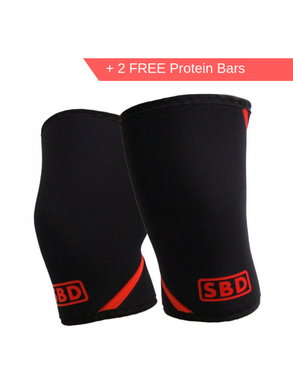 SBD - Knee Sleeve (Pair) + 2 Free Protein Bars