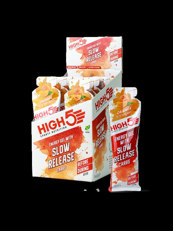 HIGH5 Slow Release Energy Gels - 62g x 14 (Full Box)