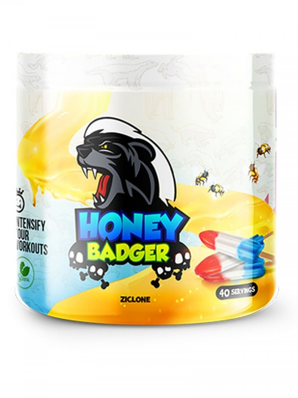 Yummy Sports - Honey Badger Pre Workout- 40 Serv