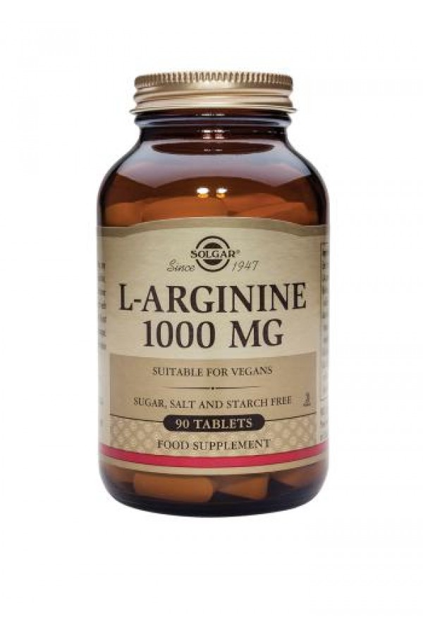 Solgar - L-Arginine 1000 mg - 90 Tablets Performance