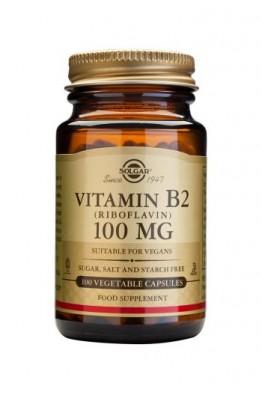 Solgar - Vitamin B2 100 mg (Riboflavin) - 100 Veg Caps