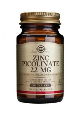 Solgar - Zinc Picolinate 22 mg - 100 Tablets