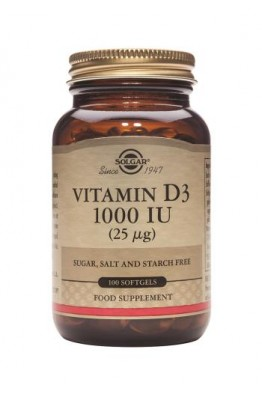 Solgar - Vitamin D3 1000 IU (25 µg) - 100 Softgels