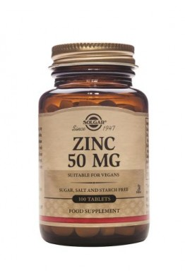 Solgar - Zinc 50 mg Tablets
