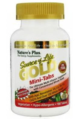 Nature's Plus - Source of Life - Gold Mini-Tabs - 180 Tablets
