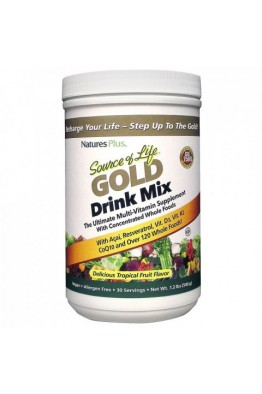 Nature's Plus Source of Life Gold Drink Mix 540g Tropical Fruit
