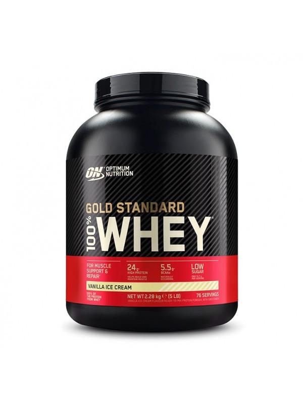 Optimum Nutrition - Gold Standard 100% - 5lb + FREE 92 serv Creatine