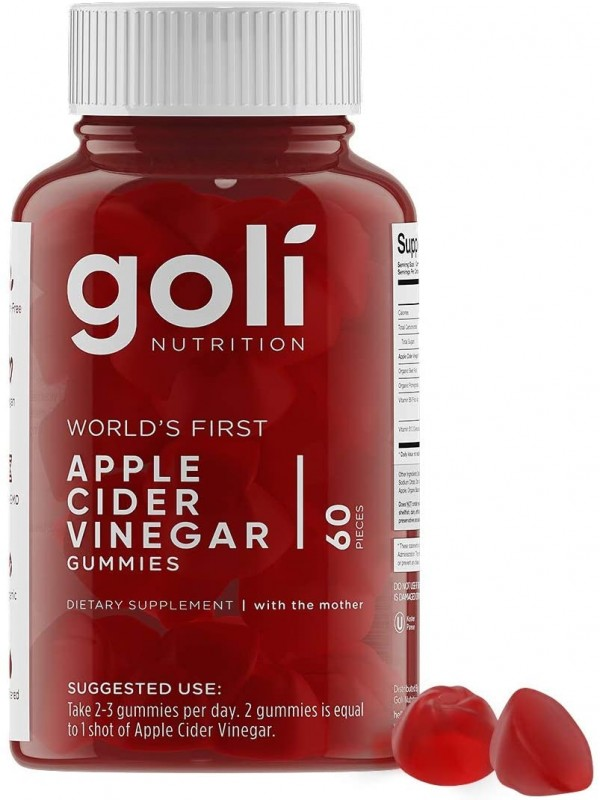 Goli Nutrition Apple Cider Vinegar Gummies (60 Pieces)