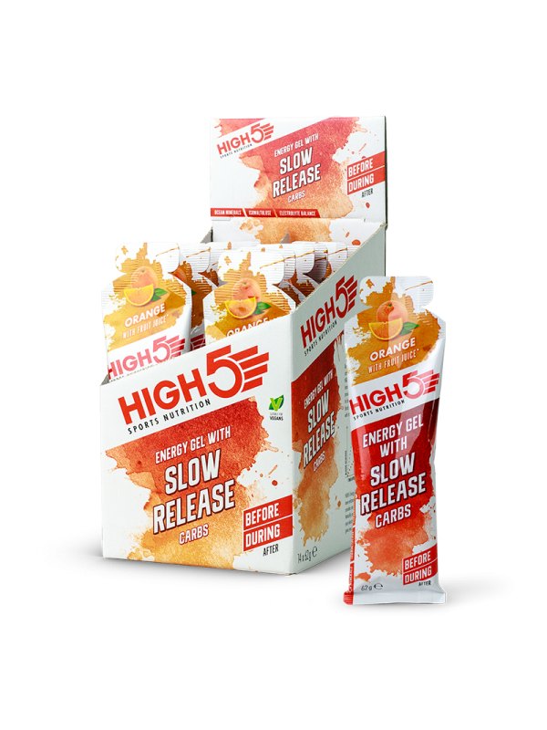 HIGH5 Slow Release Energy Gels - 62g x 14 (Full Box)